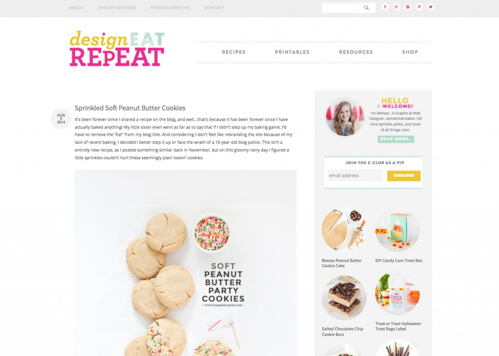 Custom Wordpress Design by Melissa Rose Design