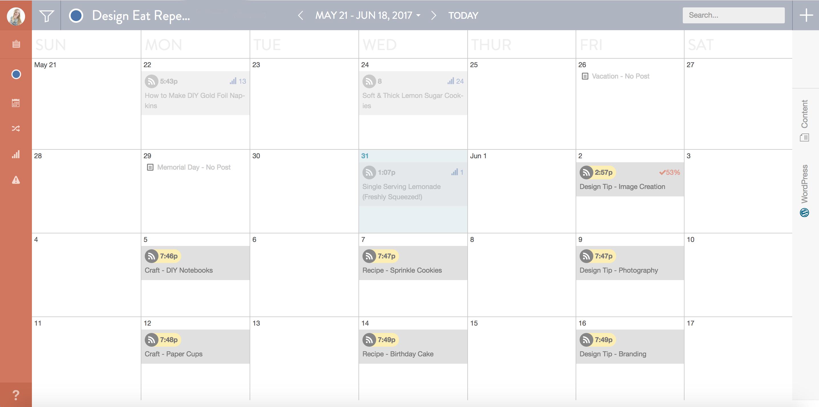 Diy Editorial Calendar : Coschedule for editorial calendar melissa rose design