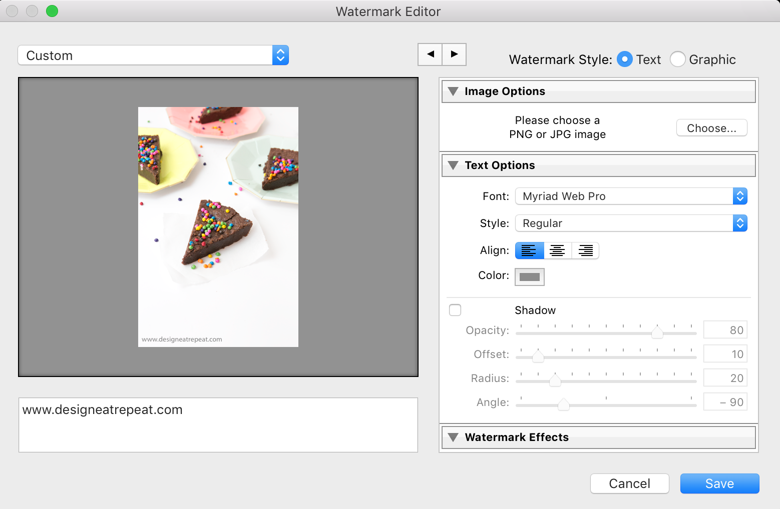 How to Create a Watermark in Lightroom for Your Blog Images