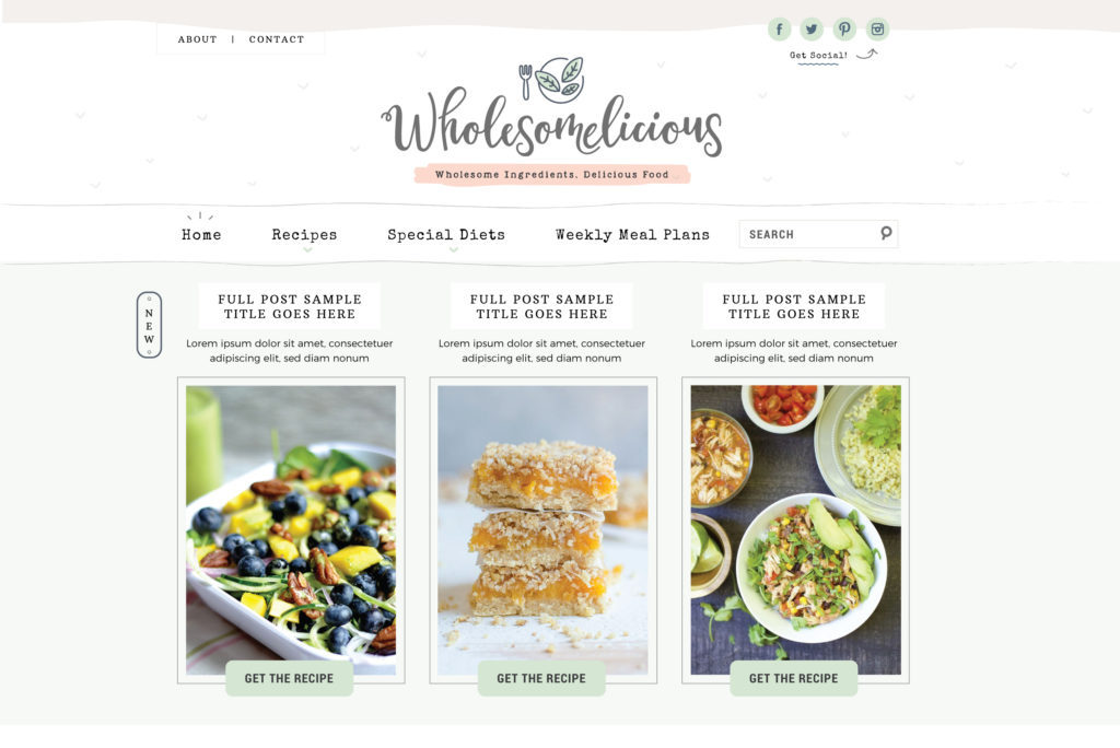 custom-wordpress-design-healthy-food-blog
