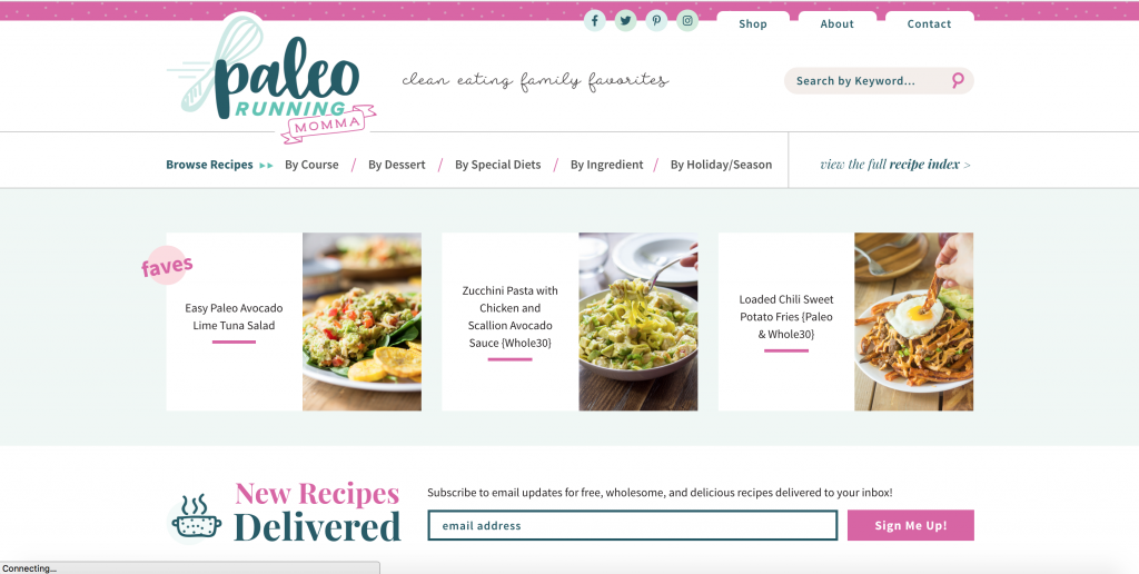 paleo-running-momma-site-rebranding-design