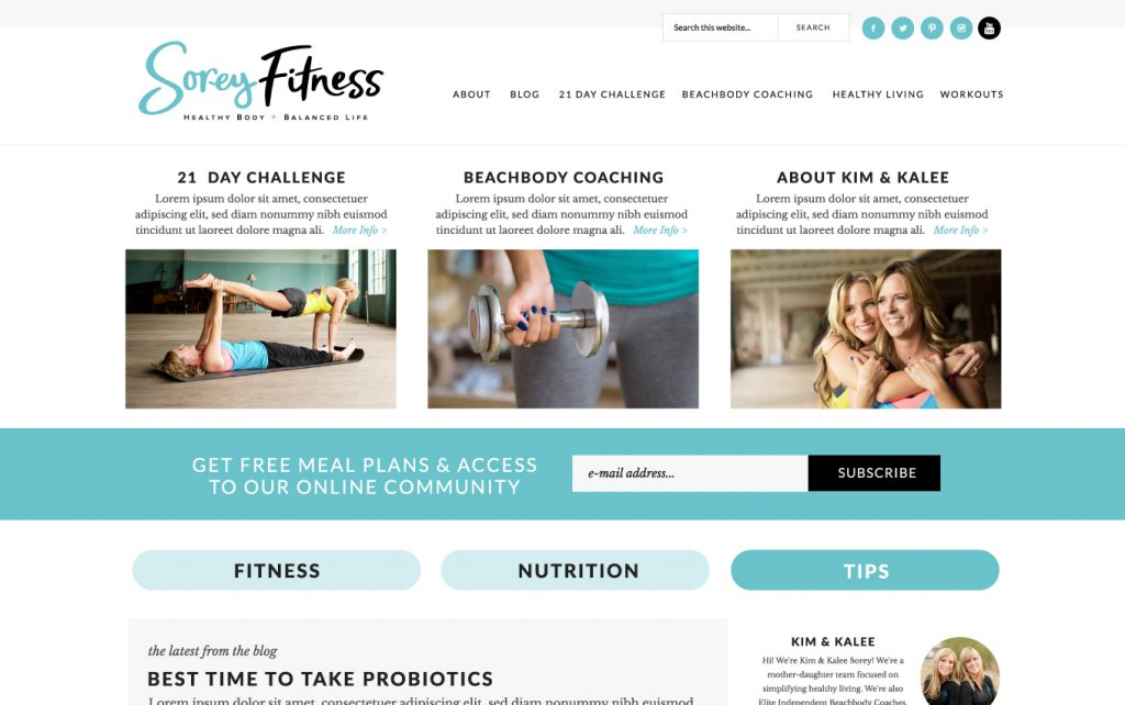 sorey-fitness-branding-website-blog-design